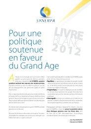 Livre Blanc 2012 du SYNERPA - CGPME