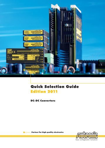 Quick Selection Guide Edition 2011 - Manudax