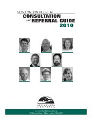 Consultation RefeRRal Guide - New London Hospital