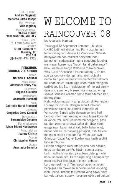 NOVEMBER 2008 VOL. VI/NO.18 | UKIBC.ORG
