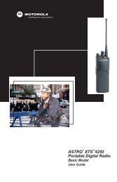 ASTRO XTS 4250 Portable Digital Radio Basic Model User Guide