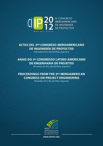 actas del 3er congreso iberoamericano de ingeniería de proyectos ...