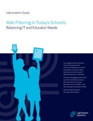 Web Filtering in Today's Schools: - Lightspeed Systems