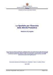 Lo Sportello per l'Esercizio delle Attività Produttive - Comune di ...