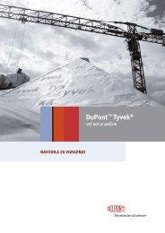 DuPont Tyvek - Navodila za vgradnjo - Ravago