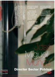 D. José Miguel Muñoz - Revista DINTEL Alta Dirección