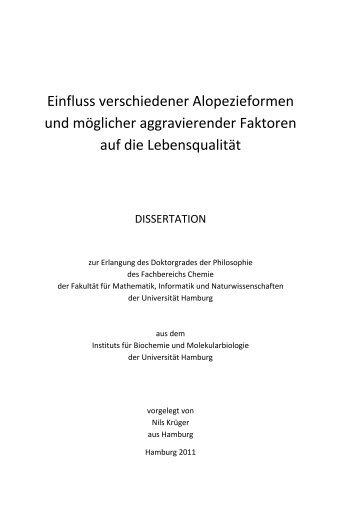 Anatomie und Physiologie des Haarwuchses - Chemie - Universität ...