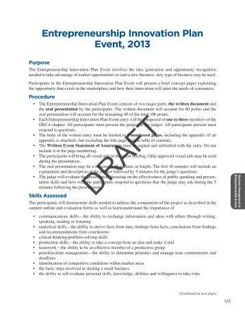 Competitive Event Program Introduction - California DECA