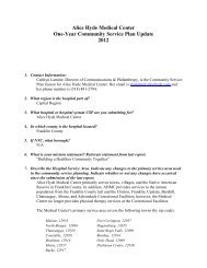 Alice Hyde Medical Center One-Year Community Service Plan ...