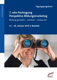 7. wbv-Fachtagung Perspektive Bildungsmarketing