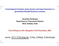 Cosmological Constant, brane tension and large hierarchy in a ...