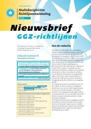 Download Nieuwsbrief nummer 8, december 2005 - GGZ-richtlijnen