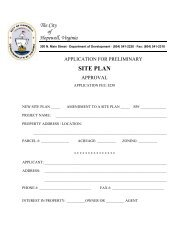 Site Plan Application - the City of Hopewell Virginia