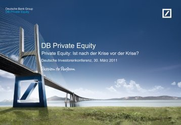 DB Private Equity Overview