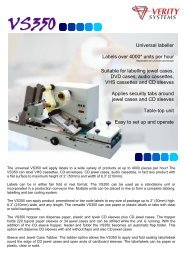 Universal labeller Labels over 4000* units per hour Suitable for ...