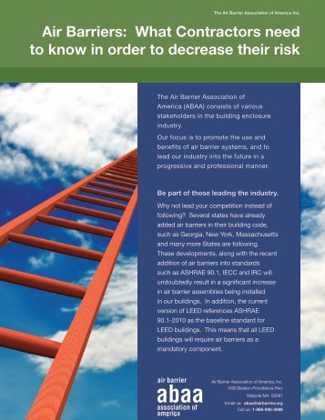 download the brochure - Air Barrier Association of America