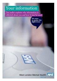 Your information' leaflet - West London Mental Health NHS Trust