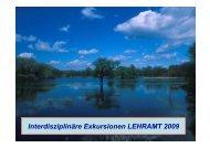 Interdisziplinäre Exkursionen LEHRAMT 2009