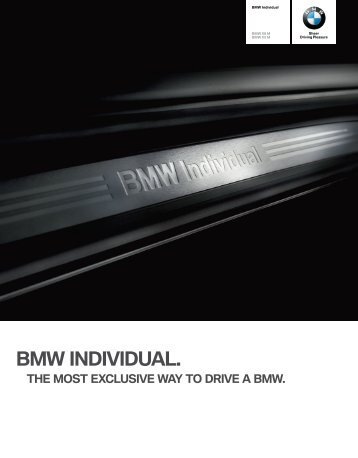 Download brochure BMW Individual Options details (PDF, 4.18 MB).