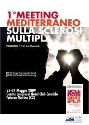 1°meeting mediterraneo sulla sclerosi multipla - CSV Catanzaro
