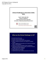 Clinical Challenges in Ulcerative Colitis 2012 What are the Clinical ...