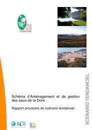 Scénario tendanciel - Parc naturel régional Livradois-Forez