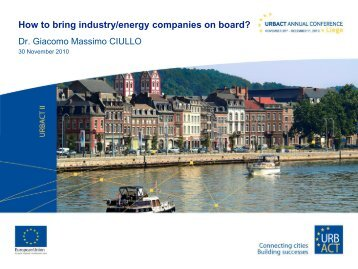 How to bring industry/energy companies on board?