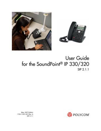 SoundPoint IP 330 User Guide