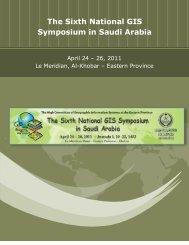 The Sixth National GIS Symposium in Saudi Arabia