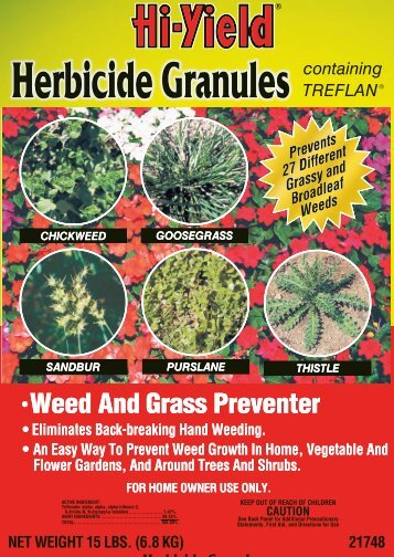 Hi-Yield Herbicide Granules Label - Do My Own Pest Control