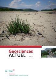 Geoscience ACTUEL 3/2012 - Platform Geosciences - SCNAT