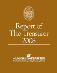 note 2 - Treasurer's Office - The University of Tennessee