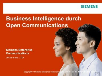 Business Intelligence durch Open Communications