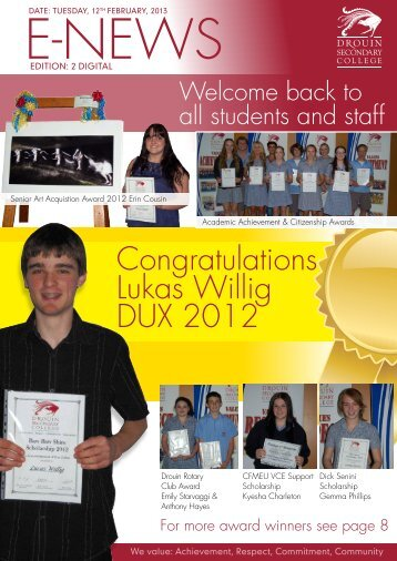 Bulletin 2 - February 12th - Drouin Secondary College