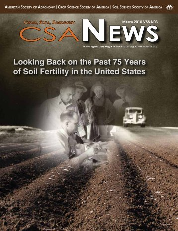 Looking Back on the Past 75 Years of Soil Fertility in the United States