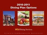 2010-2011 Dining Plan Options - CampusDish