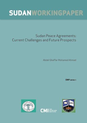 Sudan Peace Agreements - CMI