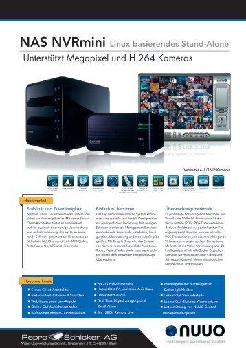 Unterstützt Megapixel und H.264 Kameras - Repro Schicker AG