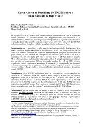 Carta Aberta - Xingu Vivo