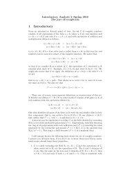 Notes and exercises on Complex Numbers