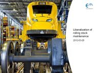 Liberalization of rolling stock maintenance - Rail Forum Europe