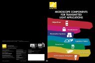 microscope components for transmitted light ... - Nikon Instruments
