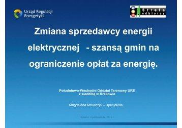 Zmiana sprzedawcy energii elektrycznej - szansÄ… gmin na ...