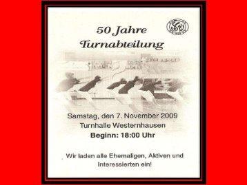 50 Jahre Turnabteilung SVW - SV Westernhausen