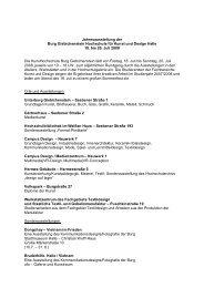 Programm Jahresausstellung 2008 - mm|vr - design - Burg ...