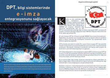 DPT, bilgi sistemlerinde e-imza entegrasyonunu ... - Bilişim Dergisi