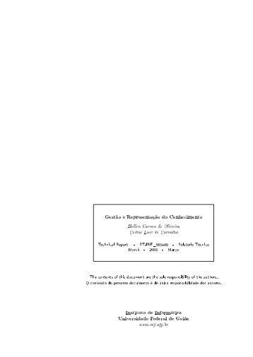 Gestão e Representação do Conhecimento Instituto de Informática ...