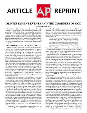 old testament events