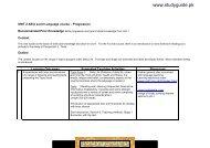 UNIT 2 AS Foreign Language course - Progression - notes