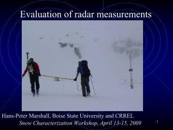 MSU Talk, 03/23/07: Microwave Radar for glaciology, snow ... - CGISS